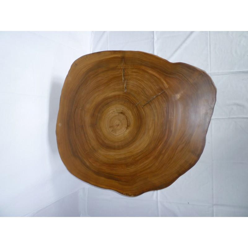 Couchtisch aus Ulmenholz und Edelstahl  Kunstsinnig